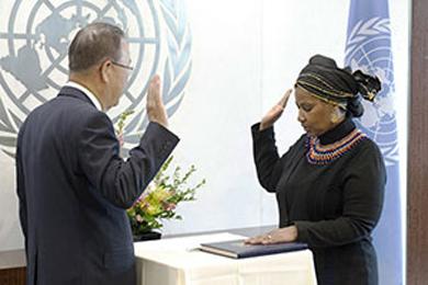 Anúncio da diretora executiva da ONU Mulheres/