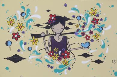 """08.03.14   Evento """"Pequim+20 em Graffiti"""" marca Dia Internacional das Mulheres/"""
