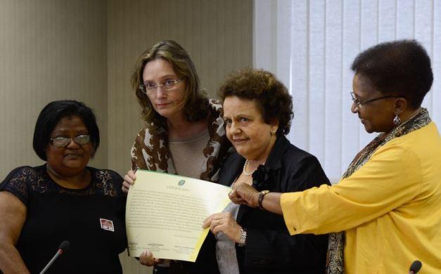 Solenidade de reparação à família de Alyne Pimentel. Foto: Agência Brasil