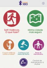 Clique 180 está disponível para smartphones e na internet para apoiar vítimas da violência de gênero