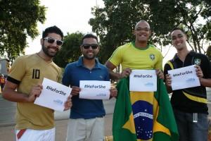 Campanha global #HeForShe busca apoio de torcidas da Copa do Mundo de Futebol/
