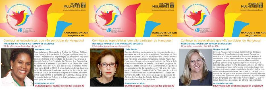 ONU Mulheres faz, nesta 3ª feira, hangouts sobre Pequim+20/