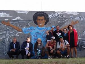 Jovens grafiteiros do DF fazem painel na Casa da ONU para celebrar o Dia Internacional da Juventude/