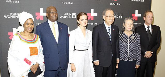 Emma Watson, embaixadora da Boa Vontade da ONU Mulheres, convoca homens e meninos a participarem da campanha HeForShe/