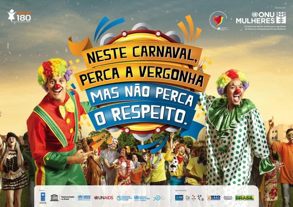 Nações Unidas lançam campanha por um carnaval sem violência contra as mulheres e a favor do uso da camisinha/