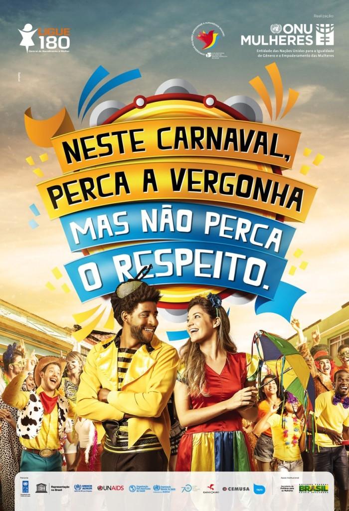 Campanha da ONU #naopercaorespeito no carnaval chega a aeroportos, ônibus, metrôs, supermercados e prédios comerciais/