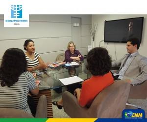 ONU Mulheres e Confederação Nacional dos Municípios discutem troca de experiências e parceria/