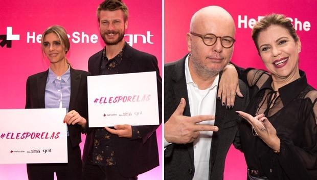 Igualdade de gênero é tema de debate entre famosas, famosos e especialistas durante lançamento da campanha #ElesPorElas/
