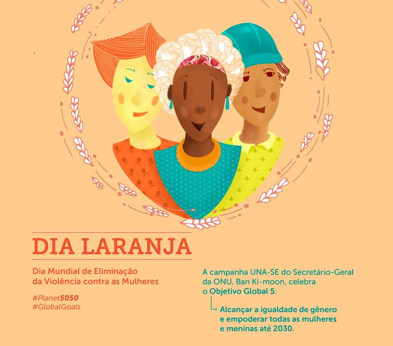Dia Laranja celebra o compromisso pela igualdade de gênero na Agenda pelo Desenvolvimento Sustentável 2030/