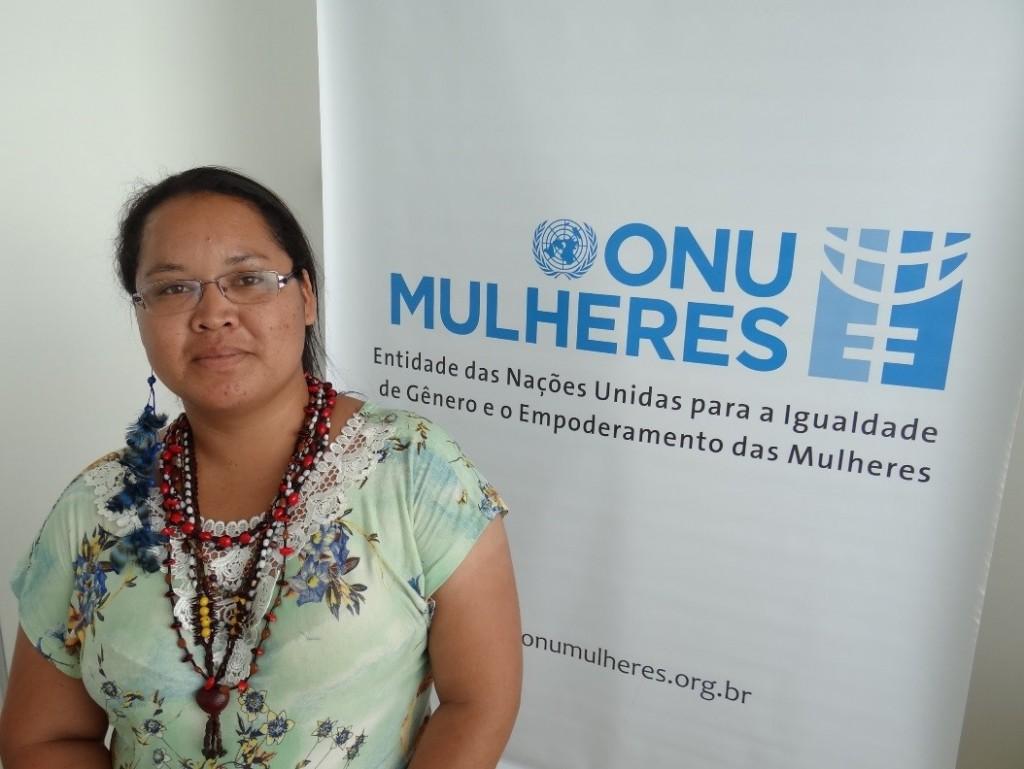 """""""Enquanto eu não ver cada mulher falando por si, minha luta não acabou"""", afirma a guarani nhandeva Andreia Lourenço/"""