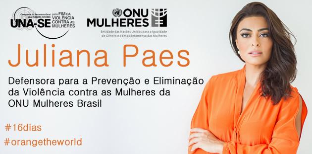 ONU Mulheres Brasil nomeia Juliana Paes como Defensora para a Prevenção e Eliminação da Violência contra as Mulheres/