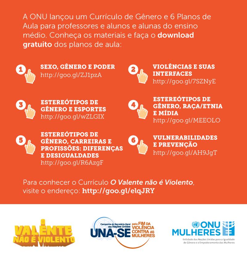 Na volta às aulas, a ONU Mulheres divulga currículo e planos de aulas para o ensino fundamental sobre igualdade de gênero e enfrentamento à violência contra as mulheres e meninas/