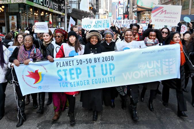 """ONU Mulheres destaca paridade de gênero no Dia Internacional da Mulher e conclama um """"Planeta 50 50 em 2030""""/"""