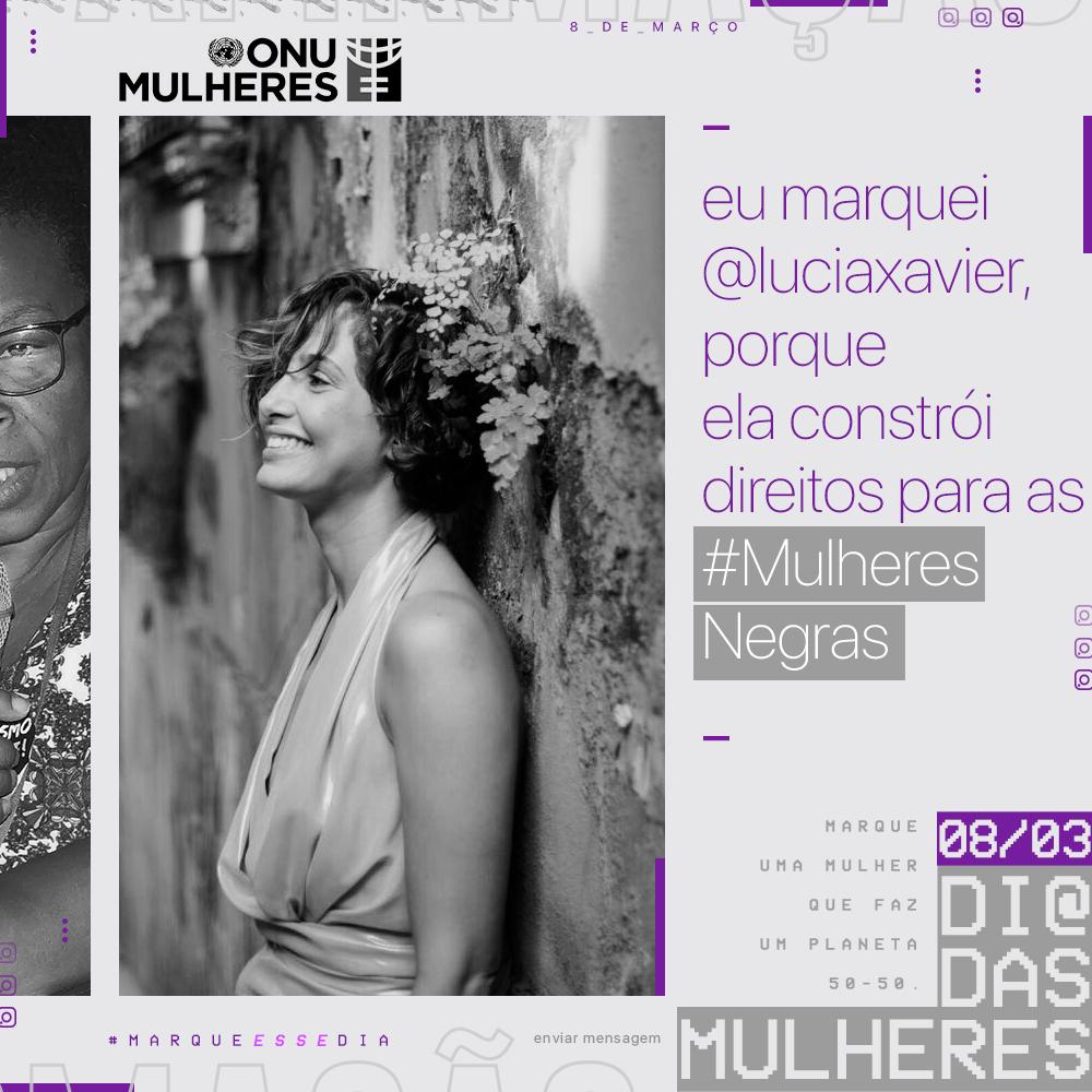 Camila Pitanga   Embaixadora da ONU Mulheres Brasil/