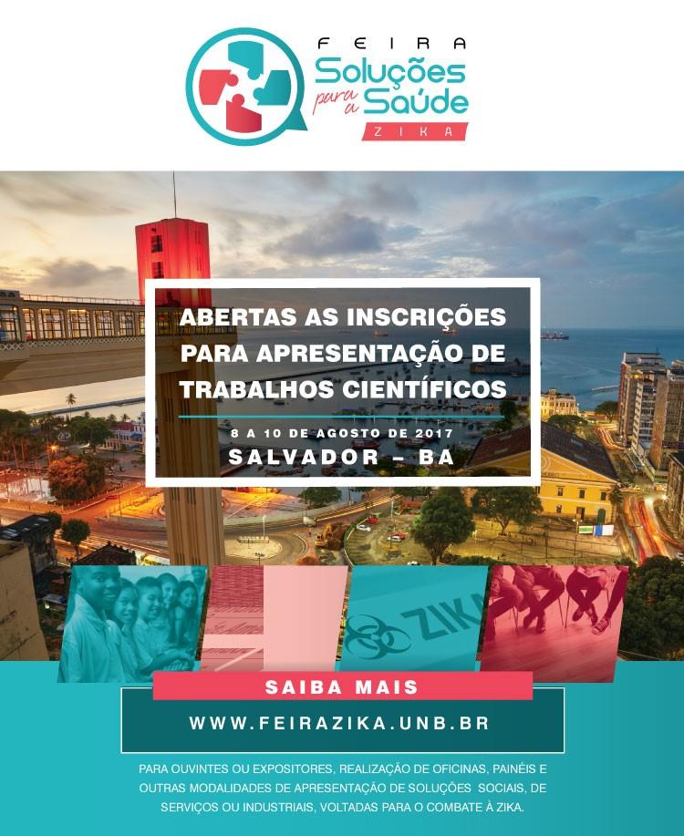 Aberta a chamada para apresentação de trabalhos científicos da Feira de Soluçõe em Saúde/