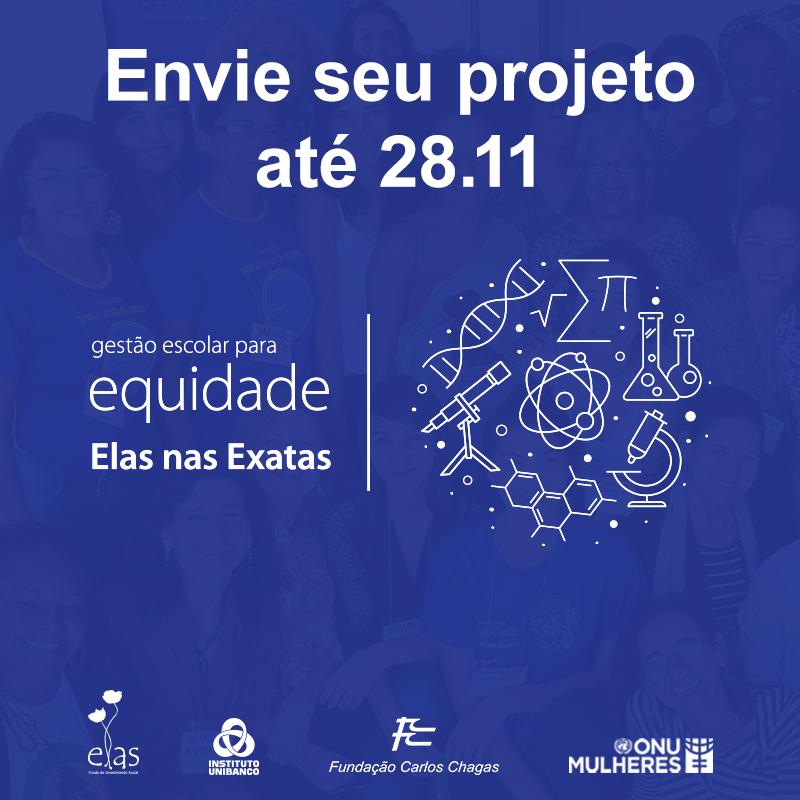 ONU Mulheres, Fundo Elas, Instituto Unibanco e Fundação Carlos Chagas lançam II Edital Elas nas Exatas/noticias direitosdasmulheres