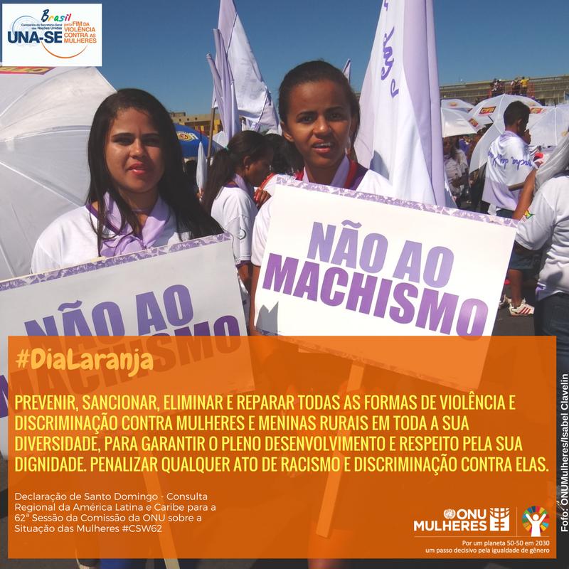 No #DiaLaranja, ONU Mulheres destaca Declaração de Santo Domingo em favor dos direitos de mulheres e meninas rurais latino americanas e caribenhas/planeta 50 50 ods noticias igualdade de genero direitosdasmulheres dia laranja