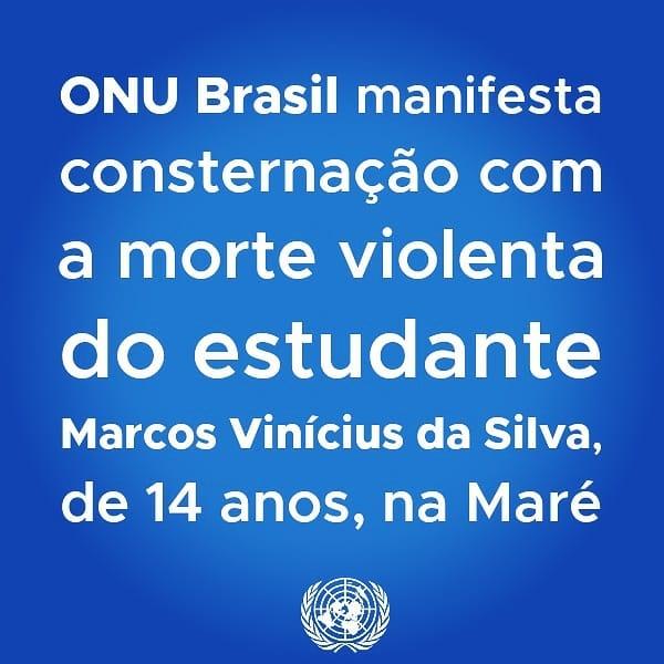 É urgente preservar a vida de adolescentes no Brasil, afirma ONU Brasil em nota pública/vidas negras noticias