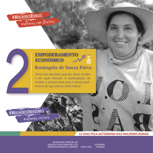 Empoderamento econômico feminino para as mulheres da Coopfam/noticias mulheres rurais