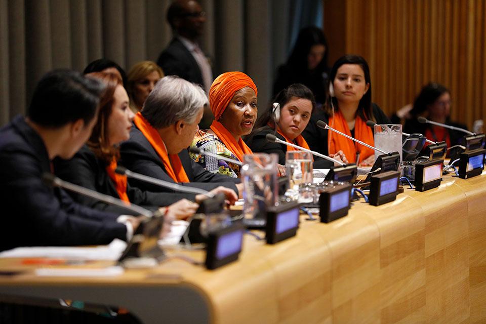 ONU promove ato pelo Dia Internacional pela Eliminação da Violência contra as Mulheres, na sede da organização, em Nova Iorque/violencia contra as mulheres onu mulheres noticias igualdade de genero direitos humanos direitosdasmulheres 16 dias de ativismo