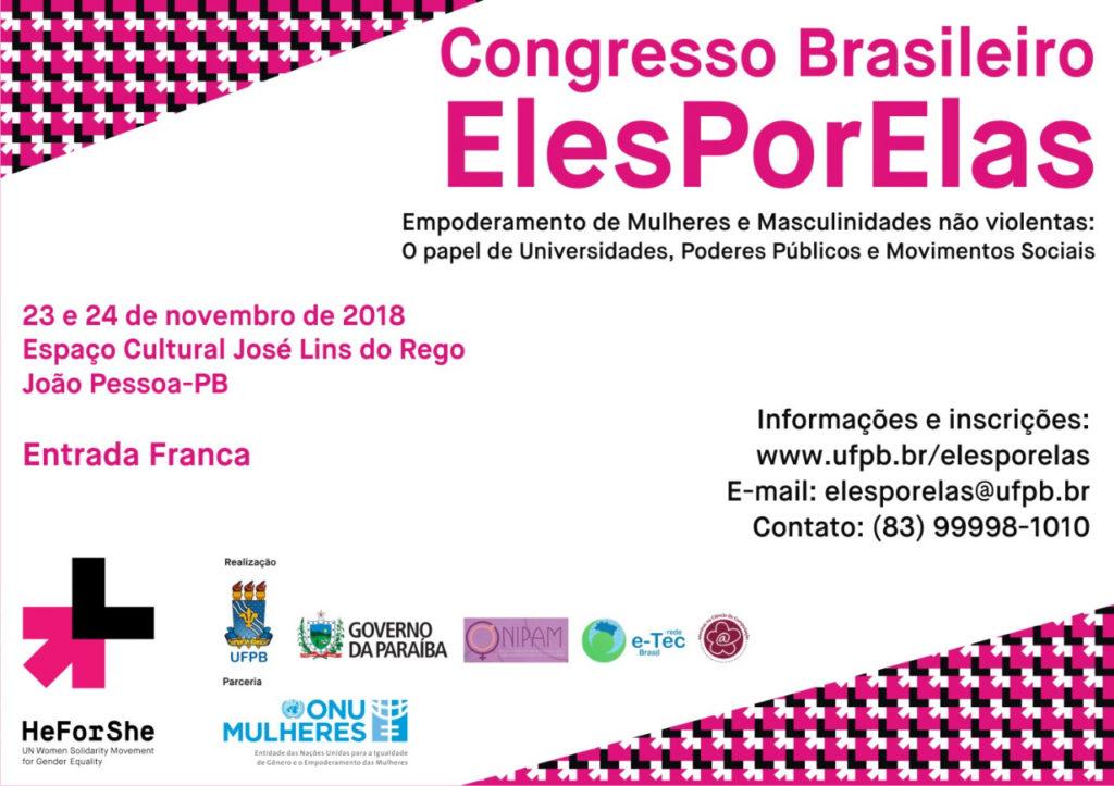Congresso ElesPorElas começa, a partir de 23/11, na Paraíba/noticias nadine gasman elesporelas heforshe cidade 50 50 16 dias de ativismo