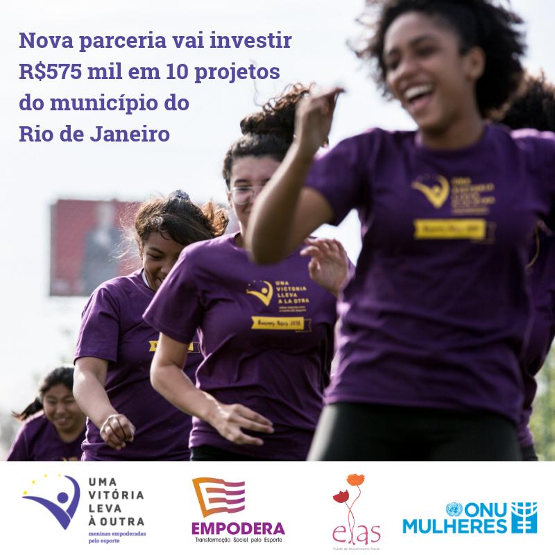 Fundo ELAS, ONU Mulheres e ONG Empodera lançam edital para empoderar meninas através dos esportes/uma vitoria leva a outra planeta 50 50 onu mulheres ods noticias meninas