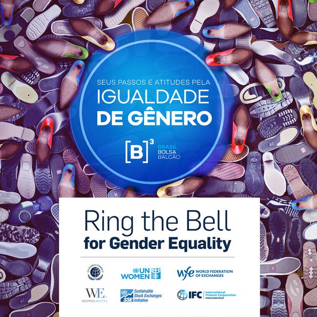 No Dia Internacional das Mulheres, ONU Mulheres, Pacto Global, B3 e parceiros tocam a campainha em apoio à igualdade de gênero/principios de empoderamento das mulheres onu mulheres ods noticias empoderamento economico