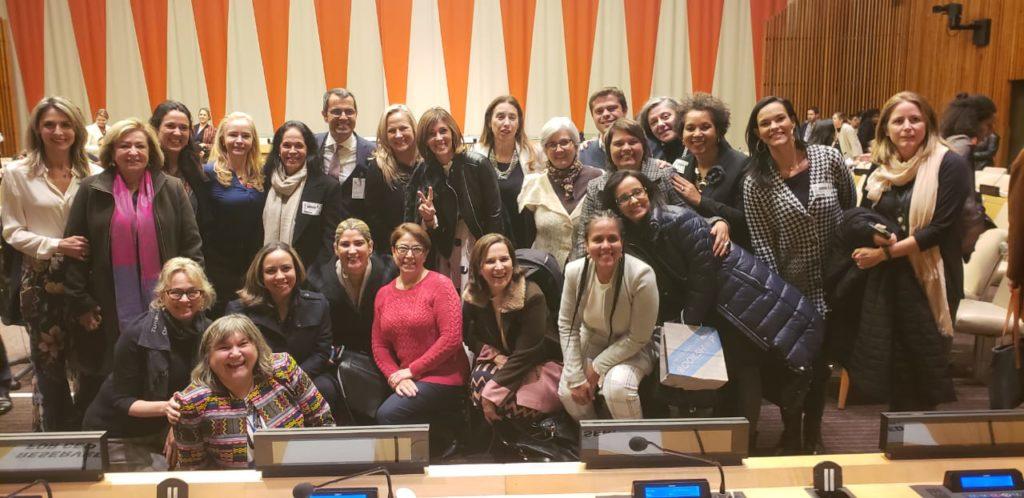 Empresas brasileiras discutem desafios e oportunidades para mulheres no mercado de trabalho em evento da ONU Mulheres, em Nova Iorque/principios de empoderamento das mulheres planeta 50 50 onu mulheres ods igualdade de genero ganha ganha empoderamento economico direitosdasmulheres