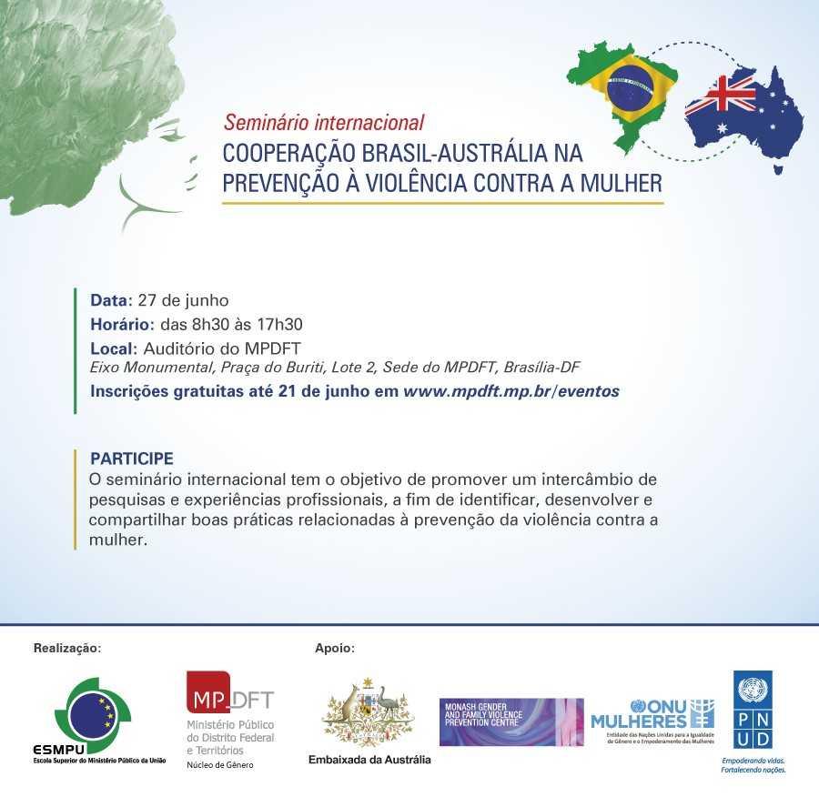 Com apoio da ONU Mulheres, Ministério Público do Distrito Federal e Territórios promove seminário internacional sobre violência contra as mulheres, em 27/6, em Brasília/violencia contra as mulheres onu mulheres noticias