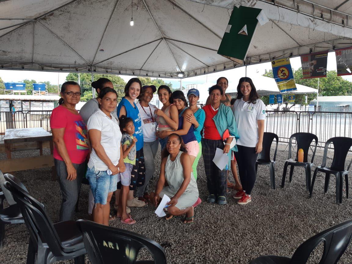ONU Mulheres inaugura rodas de conversa para venezuelanas abrigadas em Roraima/principios de empoderamento das mulheres planeta 50 50 noticias mulheres refugiadas empoderamento economico direitos humanos direitosdasmulheres cidade 50 50 brasil5050 brasil 50 50 acao humanitaria