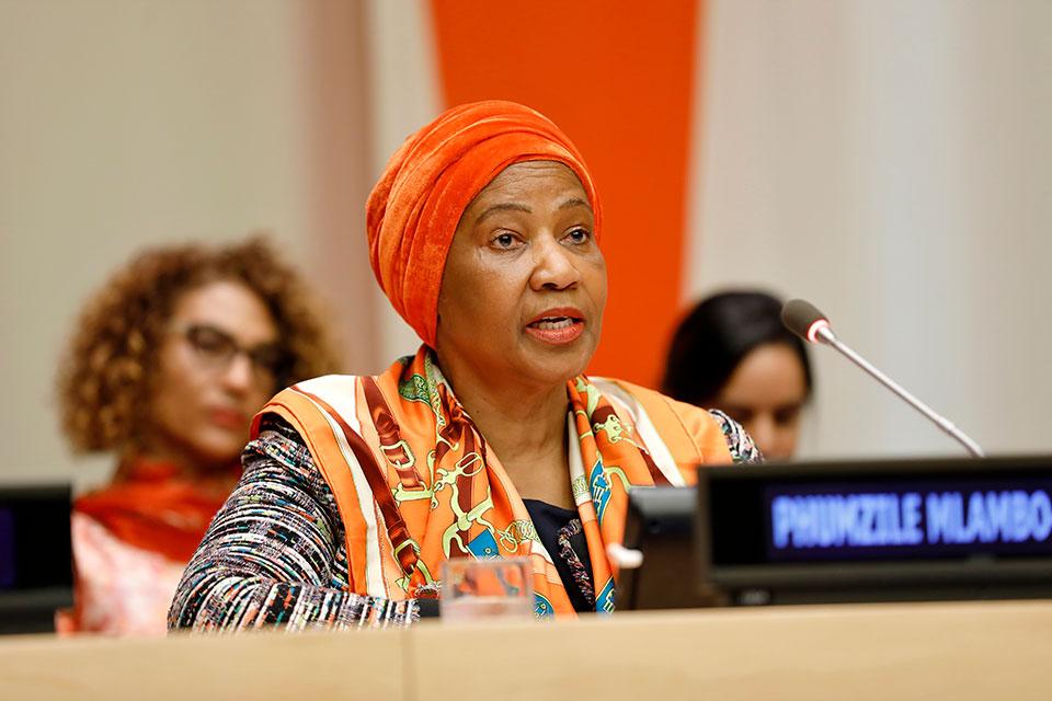 ONU Mulheres pede posicionamento contra o estupro no Dia Internacional pela Eliminação da Violência contra as Mulheres/violencia contra as mulheres phumzile mlambo ngcuka onu mulheres noticias 16 dias de ativismo