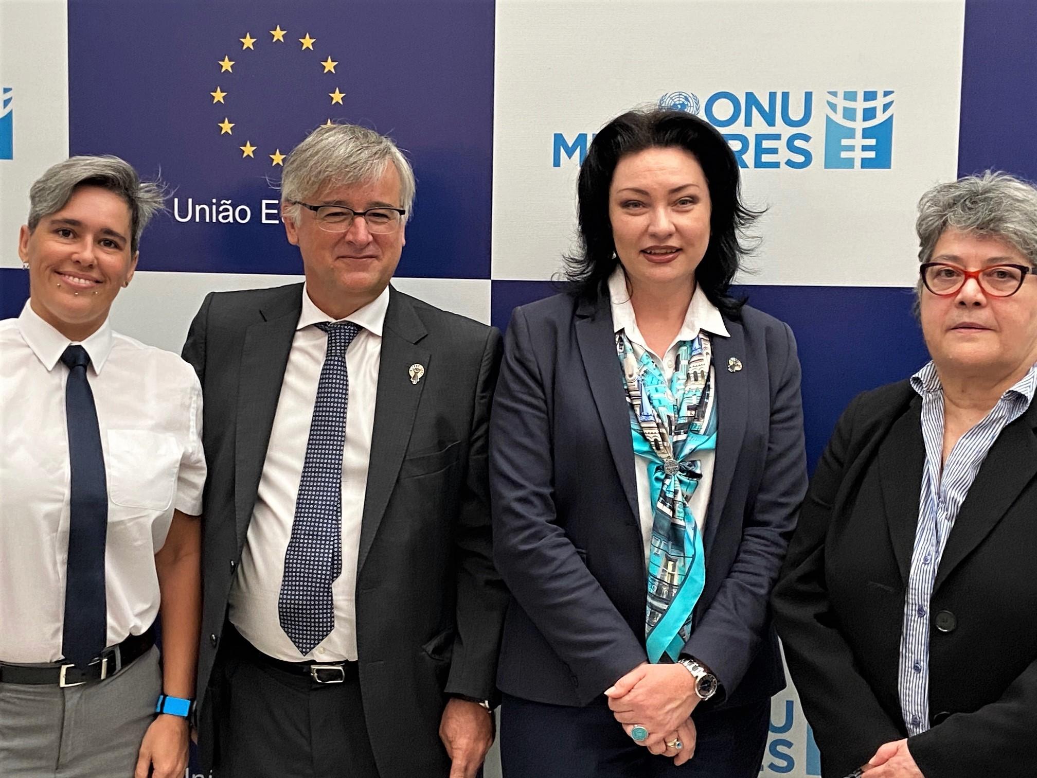 ONU Mulheres e União Europeia fortalecem cooperação em apoio às defensoras de direitos humanos e pelo fim da violência contra as mulheres/violencia contra as mulheres onu mulheres ods noticias mulheres rurais mulheres quilombolas mulheres negras mulheres indigenas igualdade de genero direitos humanos direitosdasmulheres