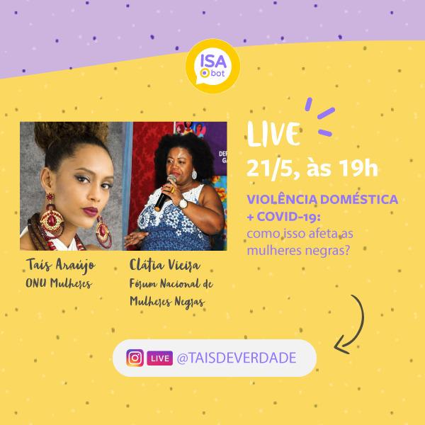 Taís Araújo, defensora da ONU Mulheres, e Fórum Nacional das Mulheres Negras fazem live para alertar sobre o aumento da violência doméstica durante a pandemia do coronavírus/violencia contra as mulheres tais araujo noticias mulheres negras feminicidio covid19