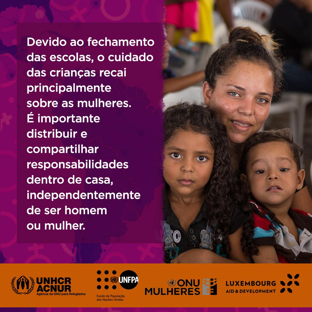 Mulheres refugiadas e migrantes de Roraima são foco de campanha da ONU Mulheres e do UNFPA na pandemia Covid 19, com apoio do Governo de Luxemburgo/noticias mulheres refugiadas mulheres migrantes direitos humanos covid19
