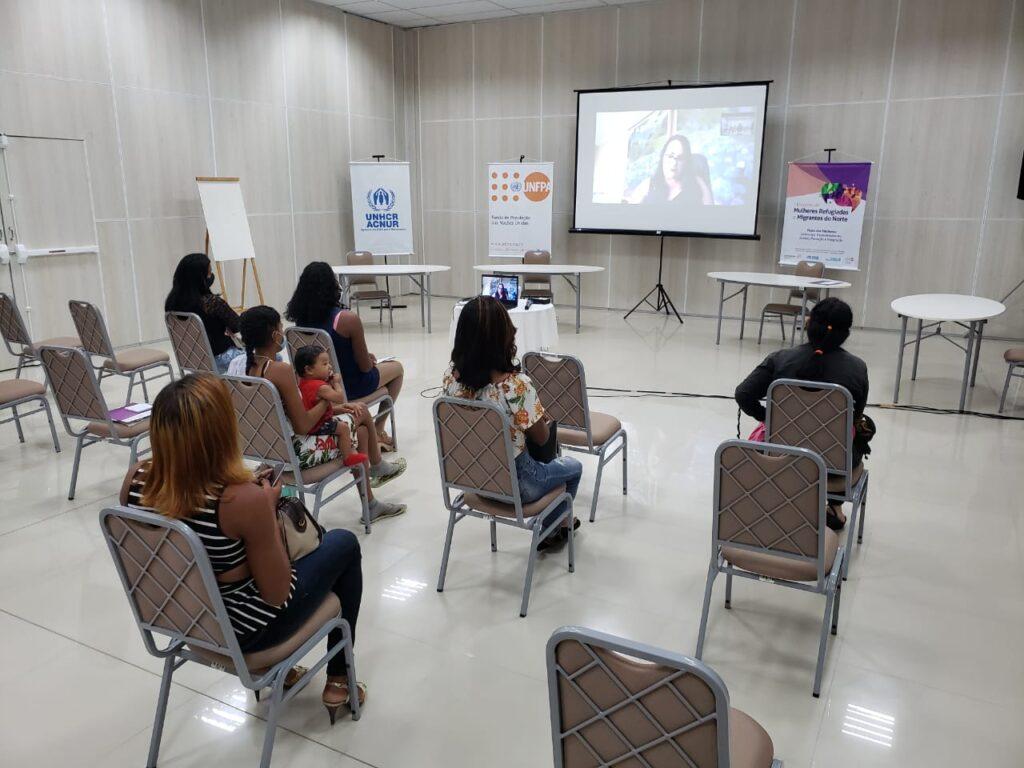 Com apoio da ONU Mulheres, refugiadas e migrantes apresentam demandas de políticas públicas mais inclusivas na região Norte do Brasil/onu mulheres mulheres refugiadas mulheres migrantes