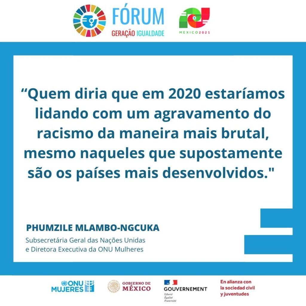 Ativistas brasileiras participam das duas etapas do Fórum Geração Igualdade/noticias mulheres no esporte mulheres negras mulheres indigenas igualdade de genero geracao igualdade direitosdasmulheres covid19