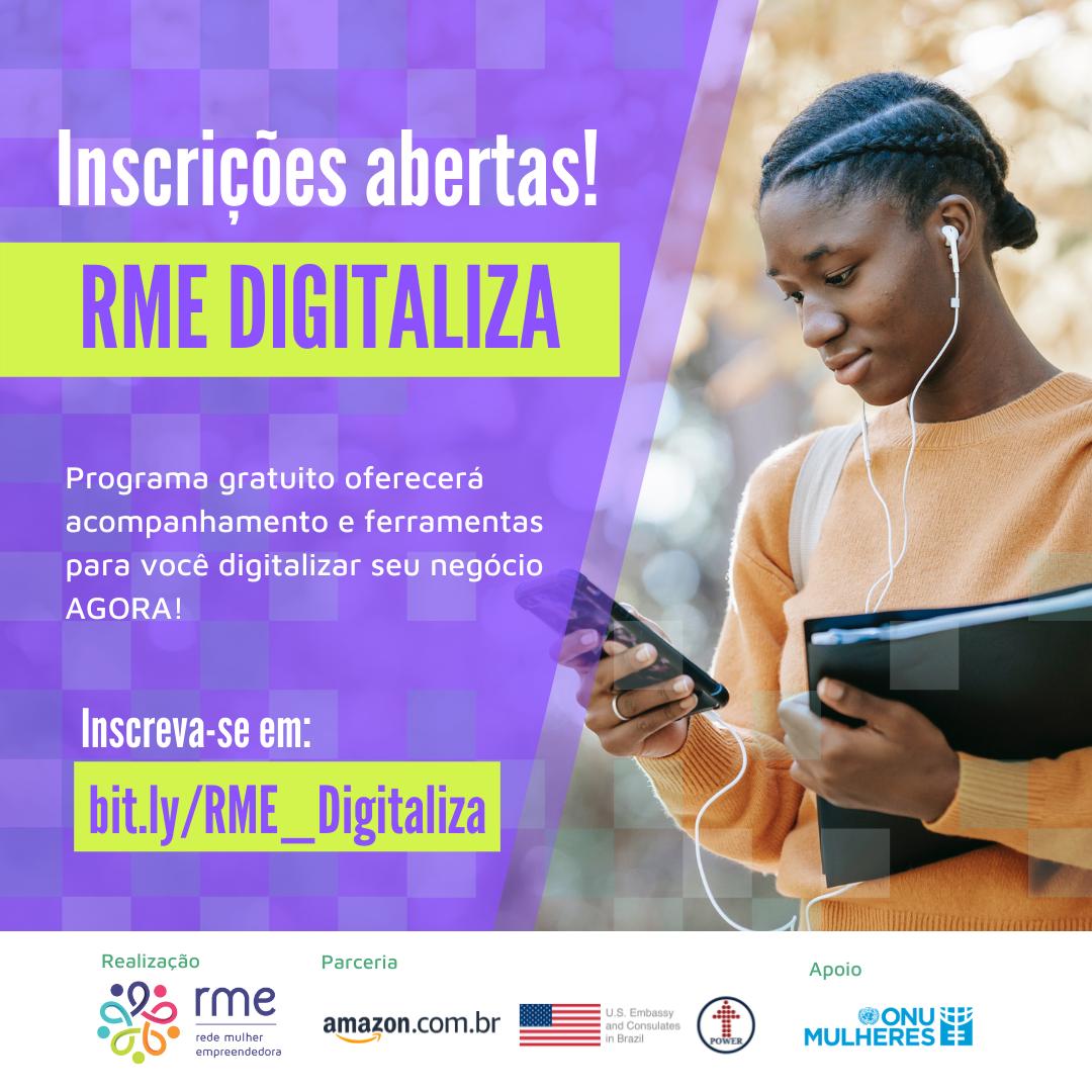 """Com apoio da ONU Mulheres e da Embaixada e do Consulado dos Estados Unidos, programa """"RME Digitaliza"""" oferece treinamento gratuito para empreendedoras/noticias igualdade de genero empoderamento economico"""