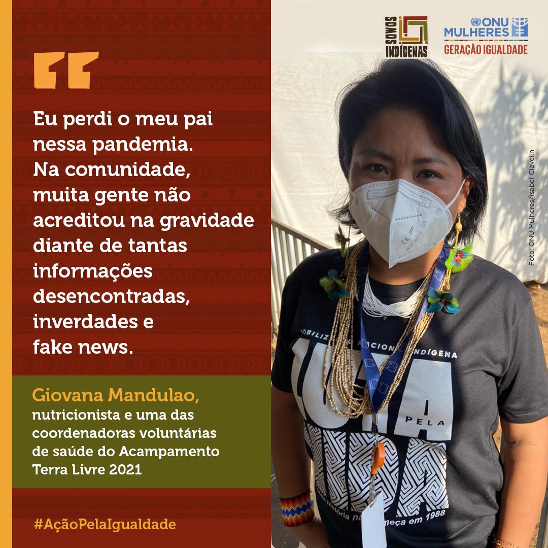 Mulheres indígenas se desdobram entre cuidados de saúde e gestão de informação para comunidades na pandemia Covid 19/mulheres indigenas geracao igualdade direitosdasmulheres covid19